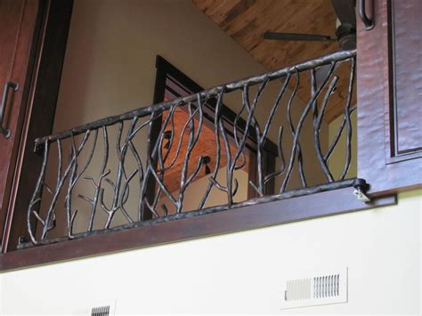 custom banisters custom made branch railing by hellgate forge custommade com