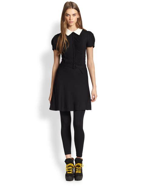 lyst polo ralph lauren contrast collar dress  black