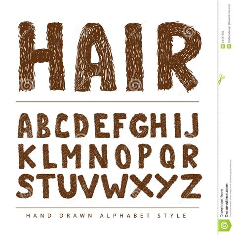 hair cut font characterset cartoons illustrations vector stock images