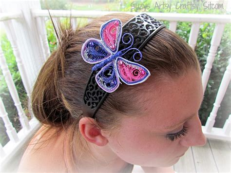 How To Make A Headband Out Of Paper - paper crafts quilled butterfly headband tutorial