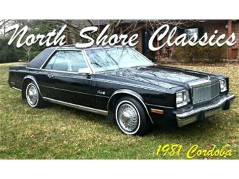1985 chrysler cordoba classic chrysler cordoba for sale on classiccars 11