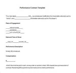 Performance Contracts Templates by 7 Performance Contract Templates Free Word Pdf