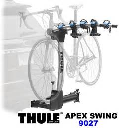 thule apex swing 4 bike 9027 thule 9027 apex swing away hitch mount bike rack