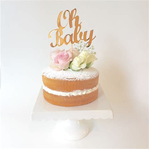 Cake Toppers For Baby Shower Cakes by Oh Baby Metallic Copper Cake Topper Baby Shower Cake