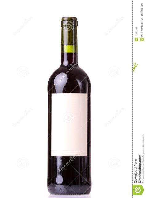 red bottle bottle of red wine with blank labels stock image image