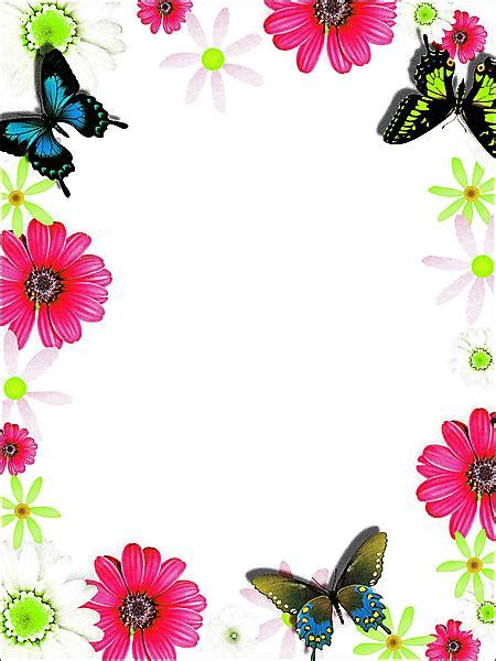 Free Simple Flower Border Designs For School Projects ... Microsoft Garden Clipart
