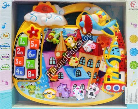 Mainan Anak Animal House Piano Binatang Edukasi Belajar Musik 1 alat musik farand family store