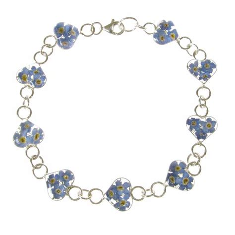 forget me not silver bracelet unistylez
