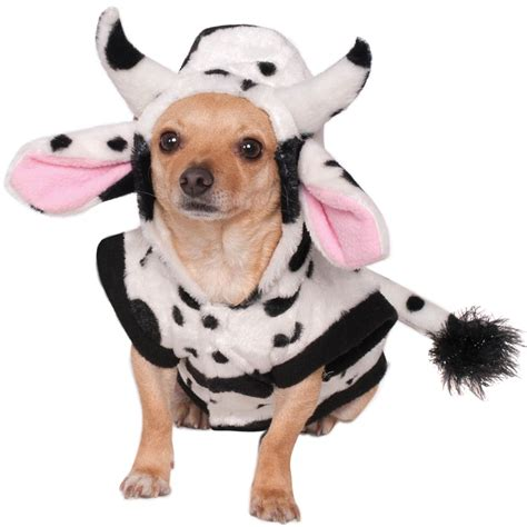 dogs in cow hoodie costume costume craze