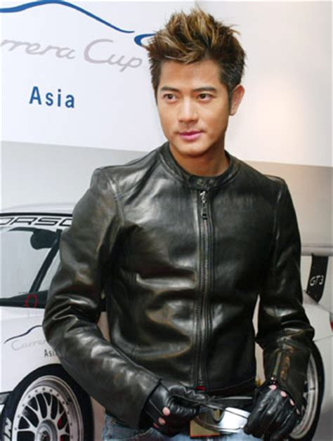 current hong kong men hairstyle hong kong singer actor aaron kwok poses in front of a