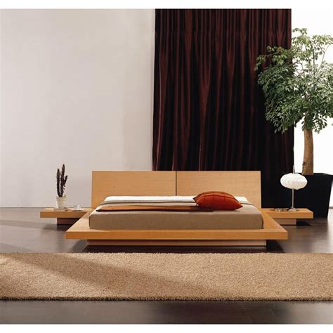 Bedside Platform Bed by Modern Platform Bed With Headboard 2 Nightstands