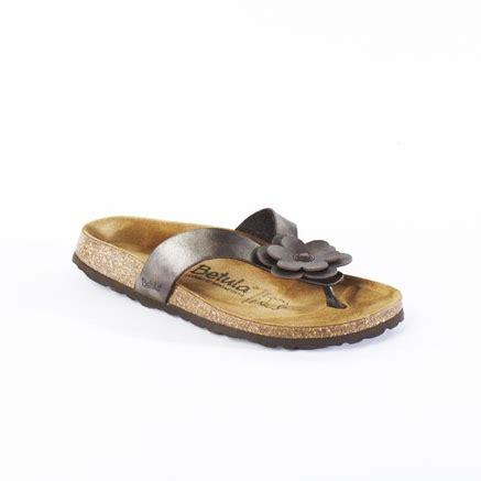 betula lene sandals betula 174 s lene toe with flower detail