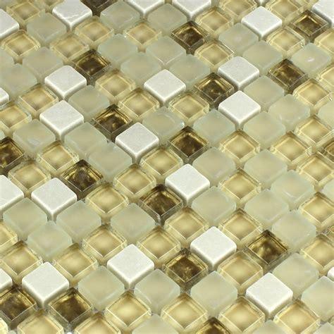 mosaik fliesen beige glass mosaic tiles white gold mix www