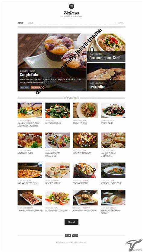 jekyll web themes delicious a yummy jekyll theme besthemes