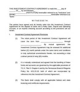 Investment Contract Template by Investment Contract Templates 8 Free Documents