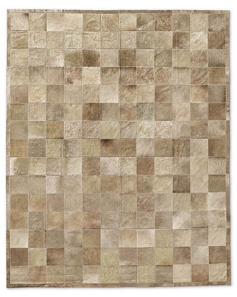 Cowhide Tile Rug South American Cowhide Tile Rug Taupe