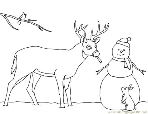 snowman coloring page pdf christmas card deer snowman coloring page free deer