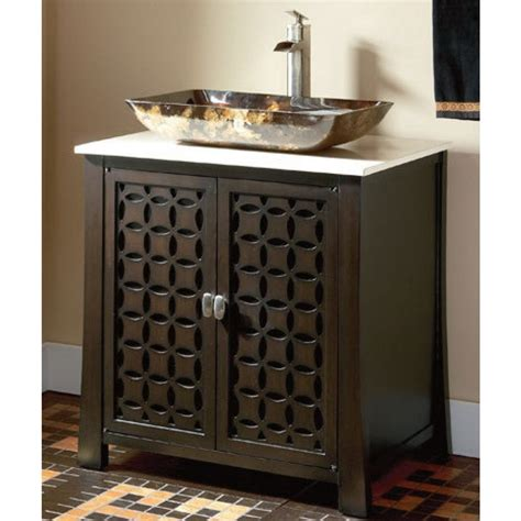 single bathroom vanity with vessel sink belle foret 30 quot single vessel sink vanity in espresso