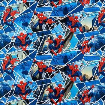 spiderman pattern fabric spider man cotton calico fabric hobby lobby 466649