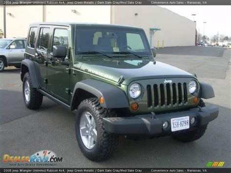 Jeep Rubicon Grey 2008 Jeep Wrangler Unlimited Rubicon 4x4 Jeep Green