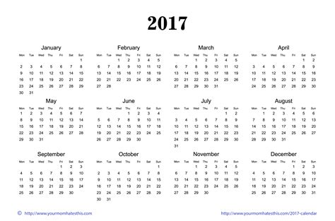 printable calendar 2017 mom 2017 calendar printable images