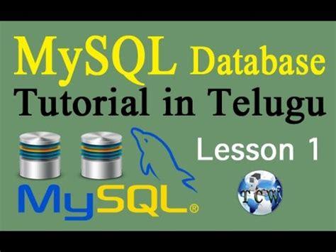 php tutorial video in telugu beginners mysql database tutorial 1 download instal