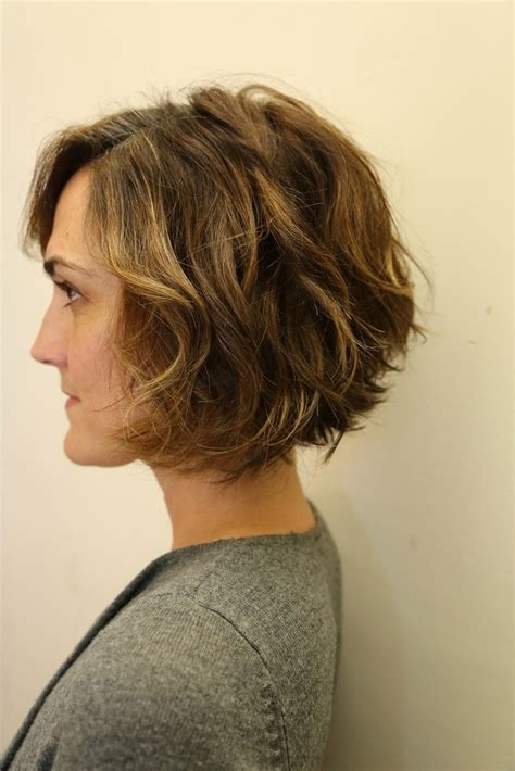 back view wavy short bob for thick hair 2015 wavy bob hairstyles side view