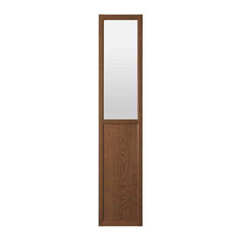 panels for ikea furniture oxberg panel glass door brown ash veneer 40x192 cm ikea