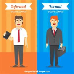 Interaction Of Formal And Informal Credit Markets In Developing Countries Great Businessman With Formal And Informal Clothes Vector Free