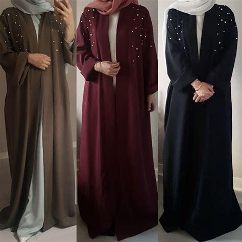 Pearl Abaya Dress by Muslim Maxi Dress Handmade Pearl Abaya Cardigan