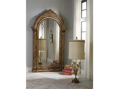 floor mirror jewelry armoire hooker furniture accents vera floor mirror w jewelry armoire storage 638 50056
