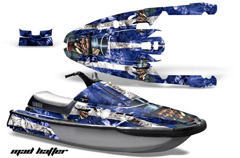 Yamaha Wave Runner Graphic Kit For 94 96 Models Over 40 Designs To Choose From Jet Ski Wrap Templates