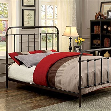 Vintage King Size Bed Frame Iria Contemporary Vintage Style Bronze Finish Cal King Size Bed Frame Set