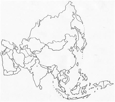 printable maps asia 8 best images of printable blank map of asia printable