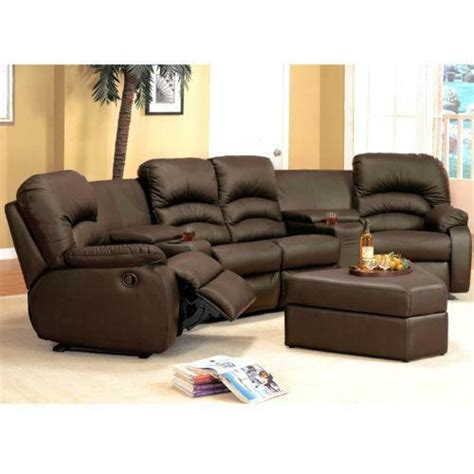 Brown Leather Sofa Recliner by Brown Leather Sectional Recliner Ebay