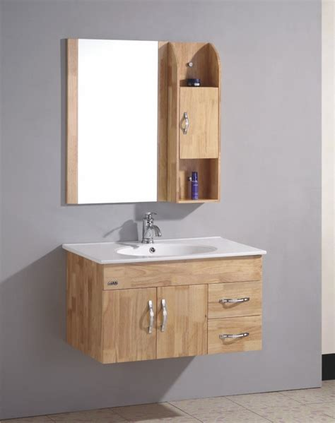 china wall mount oak bathroom cabinet omq 8016 china