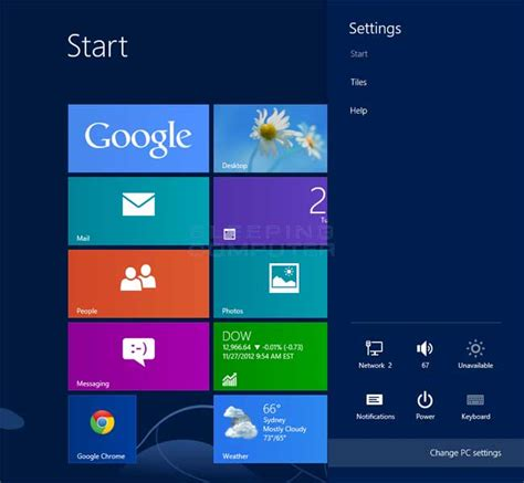 introduction to the pc settings screen in windows 8
