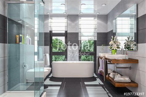Badewannen Mit Dusche 285 by Quot Modernes Badezimmer In Wei 223 Und Schwarz Mit Dusche
