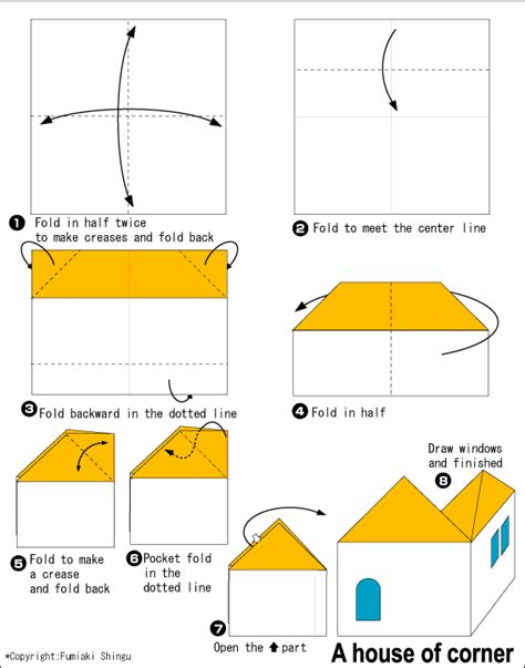 How To Make A 3d House With Paper - house of easy origami for
