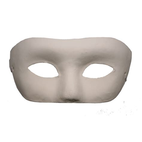 Paper Masks - paper mache half mask