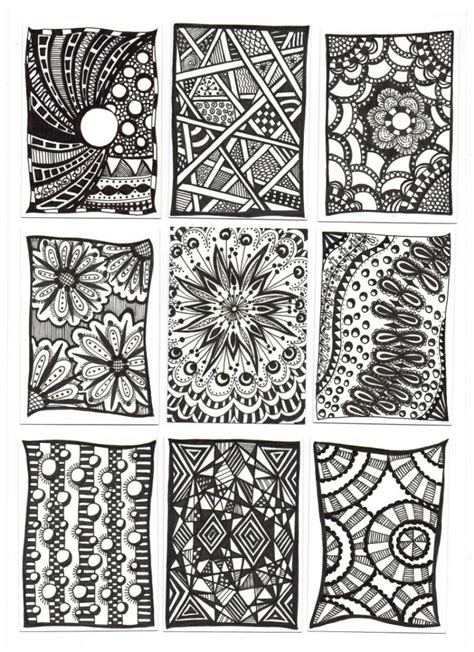 zentangle nutheadsarah zentangle ideas for beginners www imgkid com the image