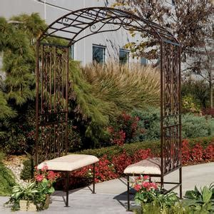 Metal Garden Arbor Bench Metal Arbor With Bench Betterimprovement