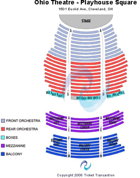playhouse square seating hamilton state theater cleveland seating map brokeasshome