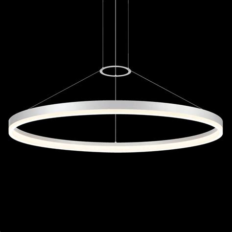 Pendant Led Lights Sonneman 2318 Corona 1 Light 48 Led Ring Pendant Homeclick