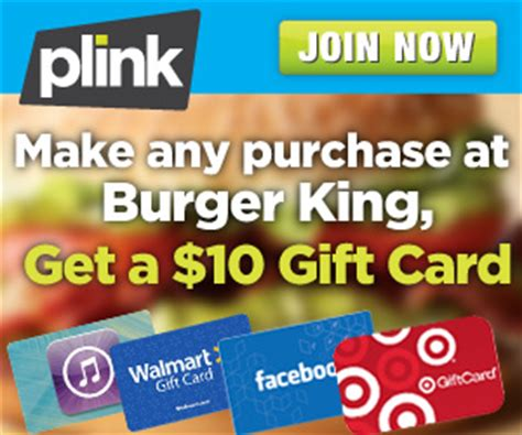 Burger King Gift Cards For Rp - plink 10 gift card for any burger king purchase southern savers