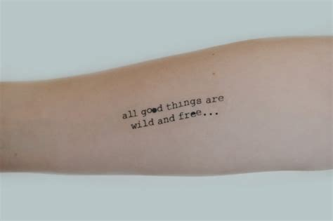 good tattoo quote fonts quote temporary tattoo typewriter font tattoo birthday gift
