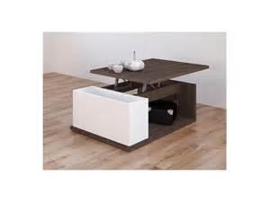 table basse aldana plateau relevable weng 233 et blanc