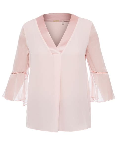 Rose Pale Pink Blouse with Pearl Detailing   Elie Tahari   Halsbrook