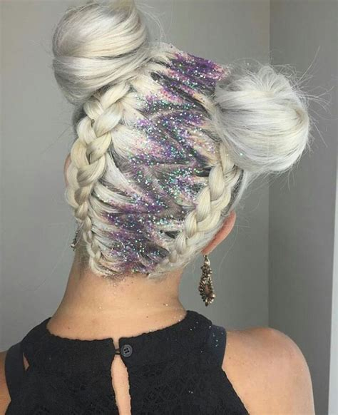 hairstyles without dying roots glitter roots patrizia conde hair dye pinterest