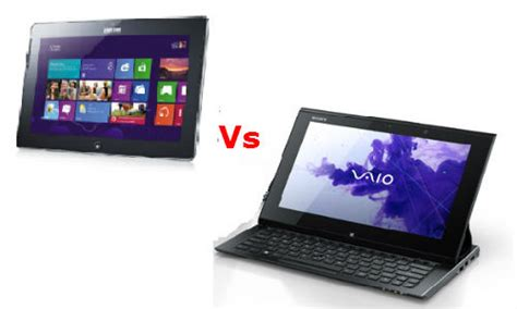 Tablet Sony Vaio Windows 8 samsung ativ tab vs sony vaio duo 11 which windows 8